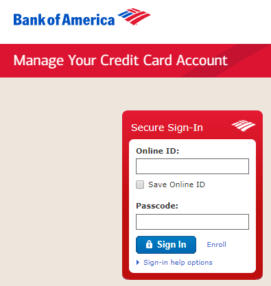 Boa How To Login To Credit Card Account Online Banking Information