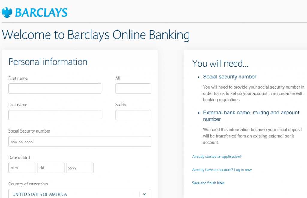 Barclays Us Online Savings Account